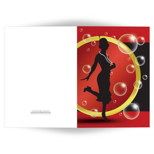 Note Cards - Roaring 20's Flapper Girl