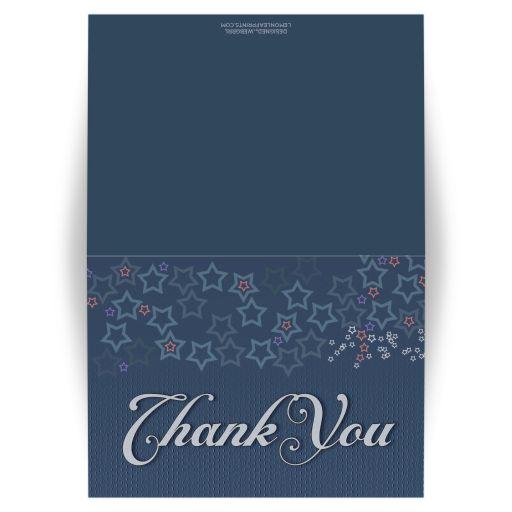 Denim Blue Stars Thank You Card