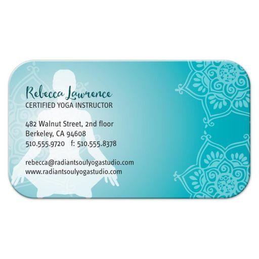Business Card - Turquoise Yoga Mandala