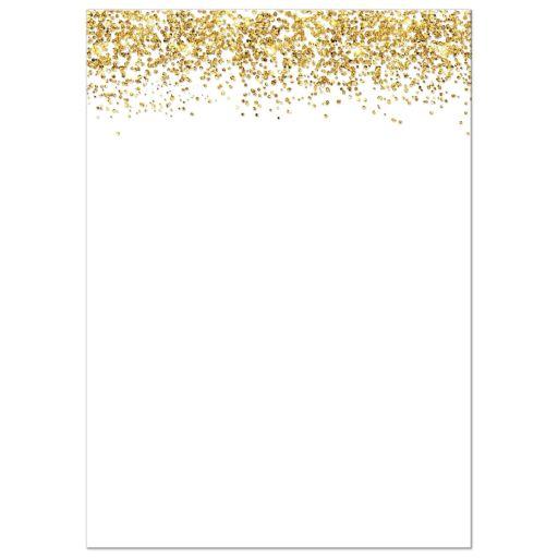 Glitter Look Confetti Joy Bat Mitzvah Invitations back