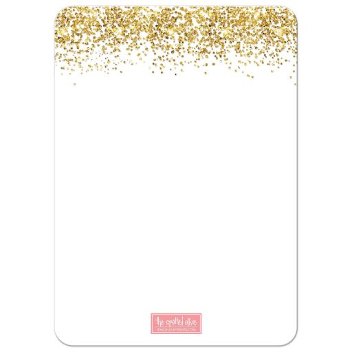 Gold Glitter Look Confetti Joy Bat Mitzvah Save The Dates back