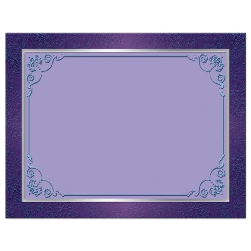 Great purple and teal green wedding thank you note card with ribbon, bow, jewels, glitter and joined hearts