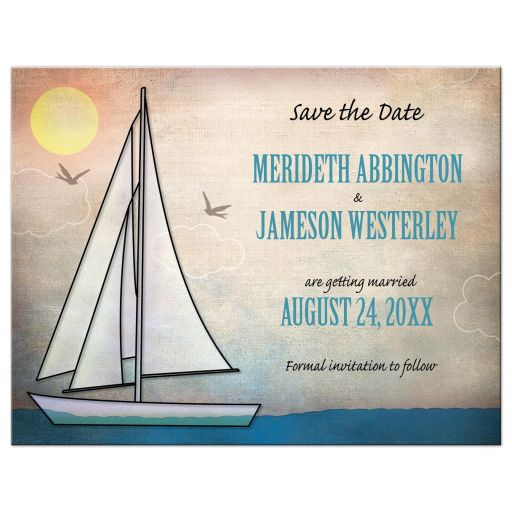 Sailing Or Nautical Themed Wedding Invitations