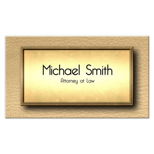 Elegant Gold And Beige Leather Professional Business Cards