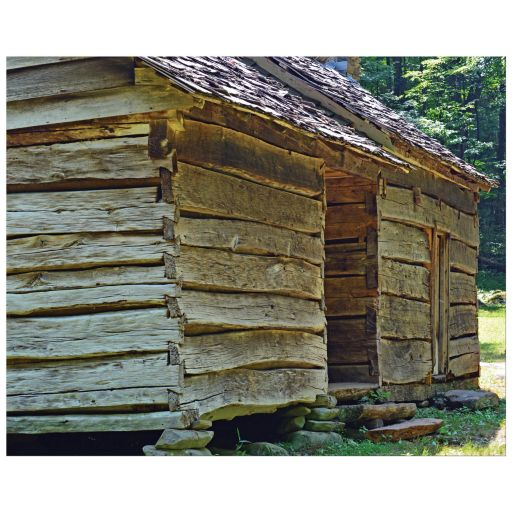 Old wood house color photograph