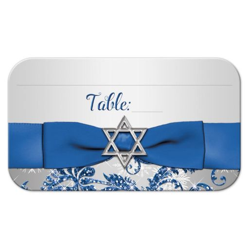 Best Winter wonderland Bat Mitzvah folded place card