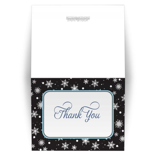 Thank You Cards - Midnight Snowflake Winter