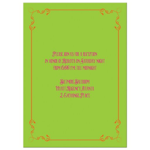 Neon chalkboard bat mitzvah invite with vintage typography, scrolls and flourishes