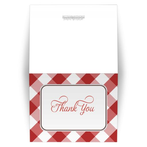 Thank You Cards - Red Gingham Country