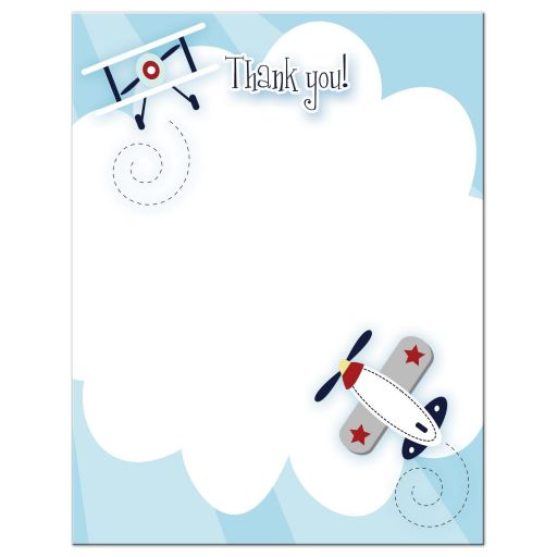 Little Aviator Airplane Flat Thank you note cards