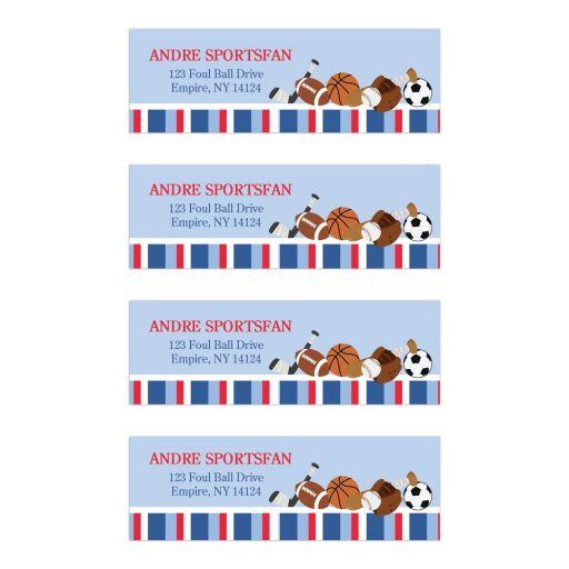 All Stars Sports Return Address Mailing Labels