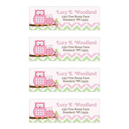 Sweet Owl Return Address Mailing Labels