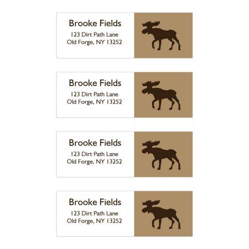 Rustic Moose Return Address Mailing Labels