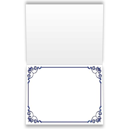 Best blue, green and white floral wedding thank you cards with flowers, ribbon and bow embellishments