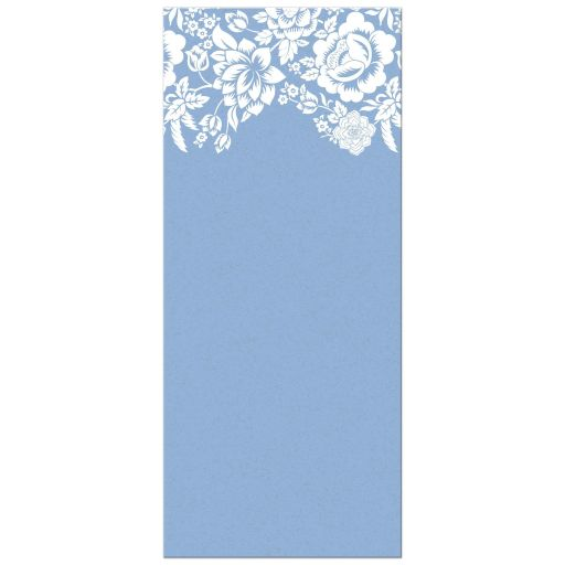 Menu Card - Modern Blue Floral Damask