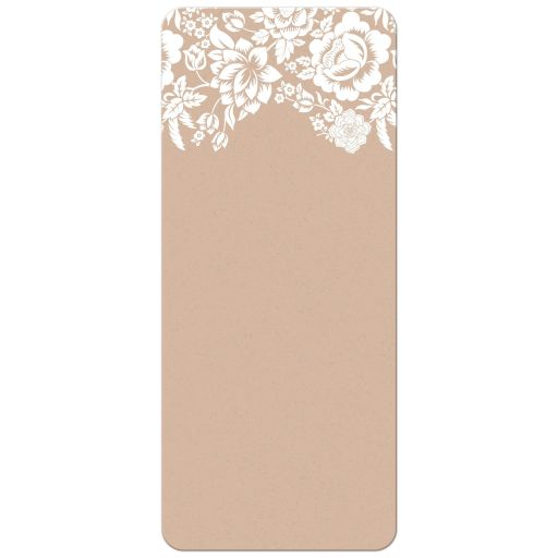 Menu Card - Modern Ecru Floral Damask
