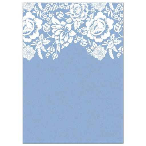 Bridal Shower Invitation - Modern Blue Floral Damask