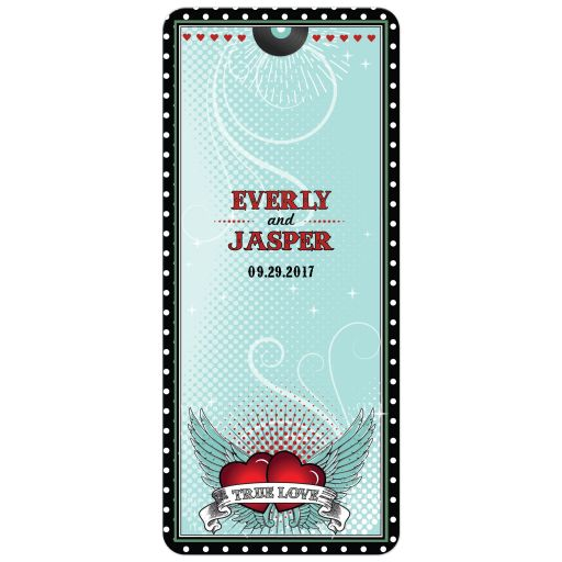 Wedding Event Menu Card - Polka Dot Rockabilly Music