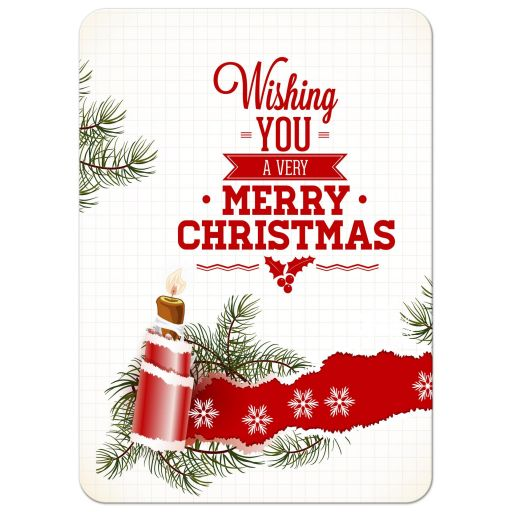 Christmas Retro Candlelight Photo Template Holiday Card
