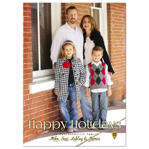 Retro Ornaments Holiday Photo Template