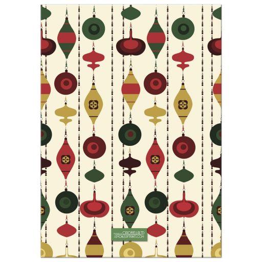 Retro Ornaments Holiday Photo Greeting Card