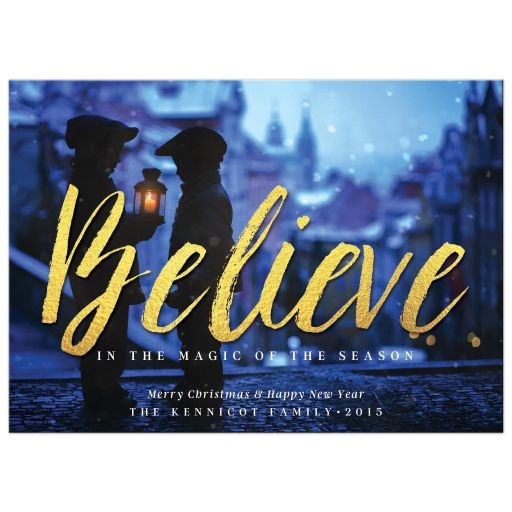 Believe in the Magic of the Season Christmas Photo Card