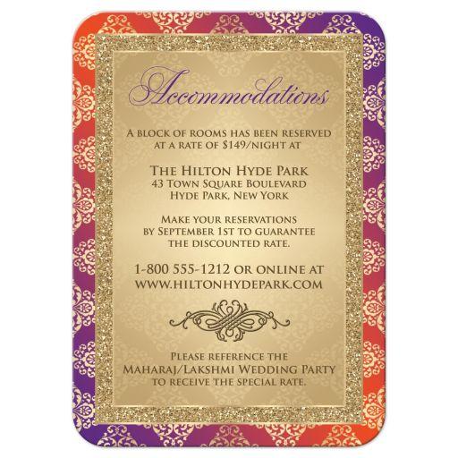 Affordable Hindu, Indian, Muslim wedding reception enclosure cards inserts