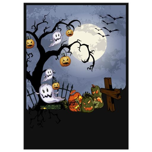 Spooky Graveyard Halloween Party Invitation