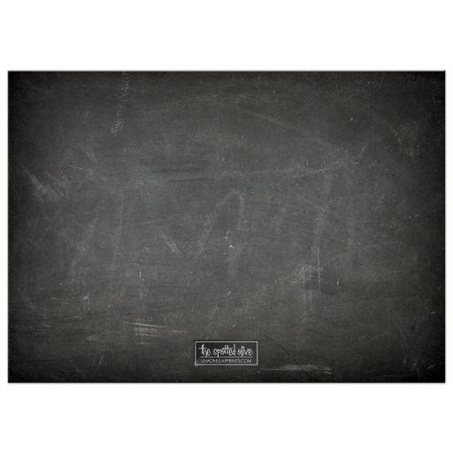 Chalkboard & Bat Silhouette Halloween Party Invitations back