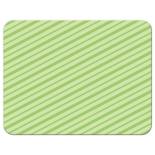 striped, green back of monster party thank you notecard.