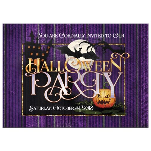 Wicked Purple Halloween Party Invitation