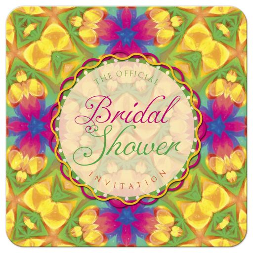 Tropical Bridal Shower invitation template