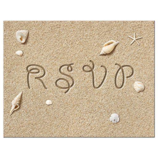 rsvp postcard beach sandy toes salty kisses