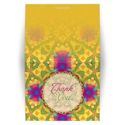 Tropical Fun Bright Art Thank You Card