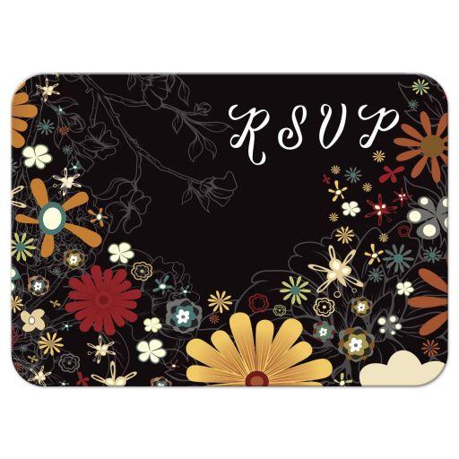 Retro Inspired Floral Bat Mitzvah Response Card