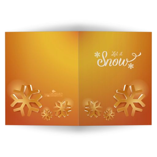 Funky Gold Geometric Snowflakes Affordable Holiday Card