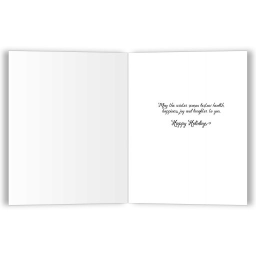 Affordable Elegant Snowflakes and Stars Holiday Greeting Card