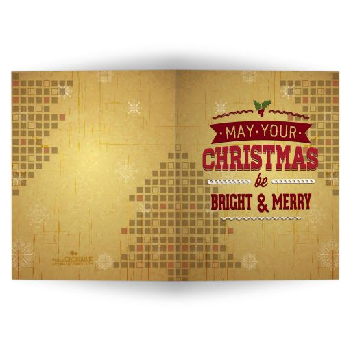Gold Faux Foil Christmas Tree Greeting Card