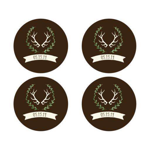 Deer Antler Wedding Envelope Seals