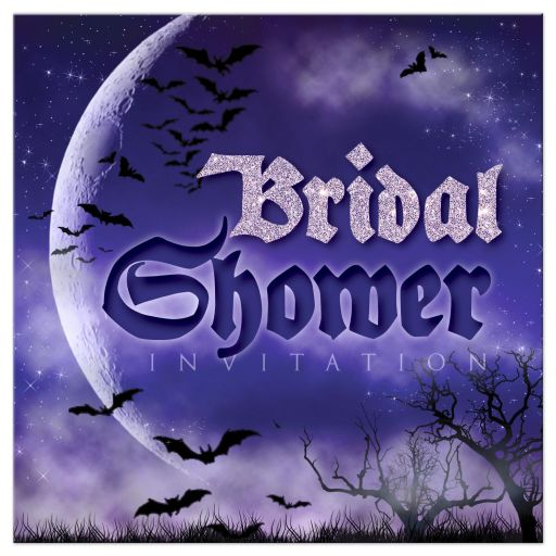 Super Moon Halloween Gothic Bridal Shower