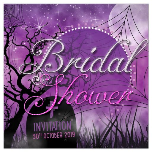 Fuchsia Pink Gothic Halloween Bridal Shower