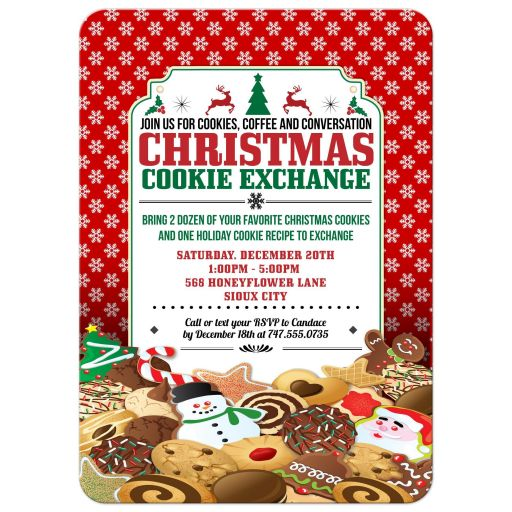 Party Invitation - Christmas Cookie Exchange Swap