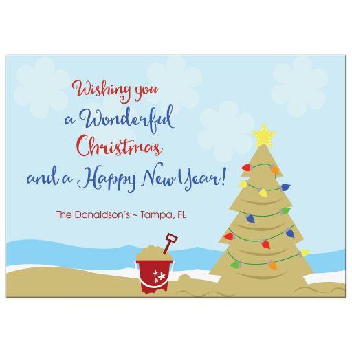 Beach Warmer Weather Christmas Card