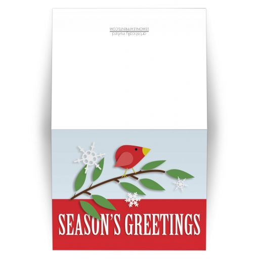 Christmas Cards - Red Holiday Bird Season's Greetings