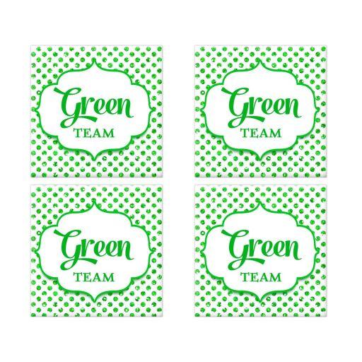 Green Team Polka Dot Bat Mitzvah Social Media Scavenger Hunt Sticker