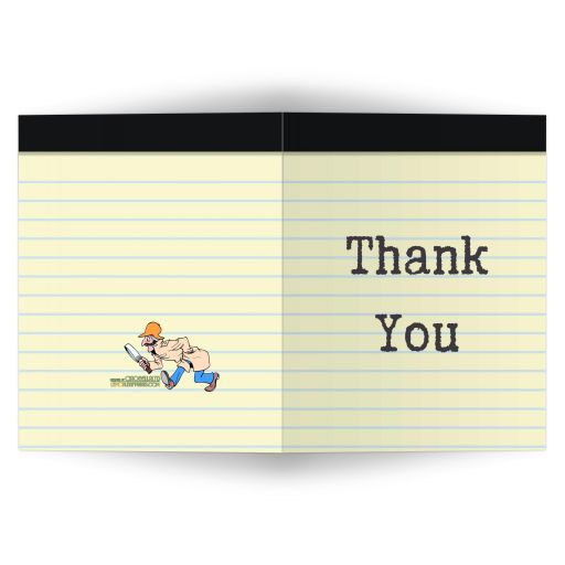 Scavenger Hunt Bar Mitzvah Social Media Scavenger Hunt Thank You Card