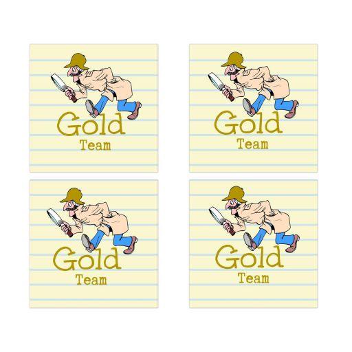 Gold Team Social Media Scavenger Hunt Bar Mitzvah Sticker