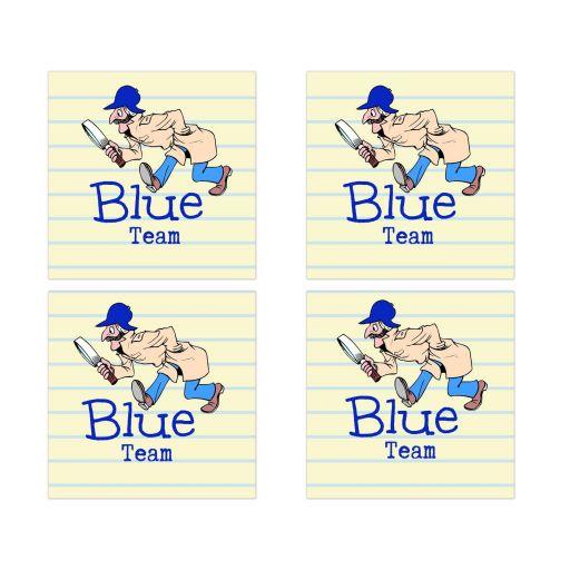 Blue Team Social Media Scavenger Hunt Bar Mitzvah Sticke