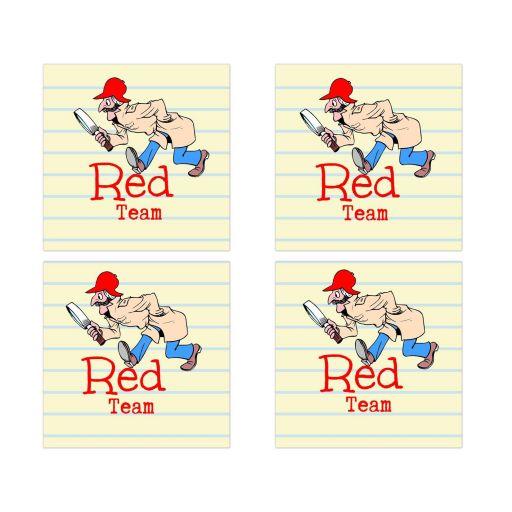 Red Team Social Media Scavenger Hunt Bar Mitzvah Sticker