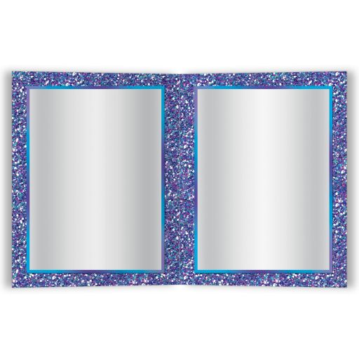 Best Bat Mitzvah thank you card with glitter, ribbon, bow, Jewish Star and name.